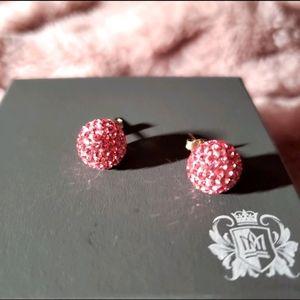 925 SS pink Austrian crystal earrings